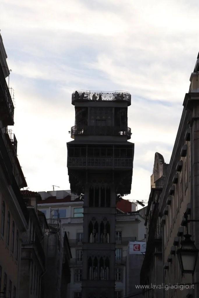 Lisbona dall'alto - elevador santa justa