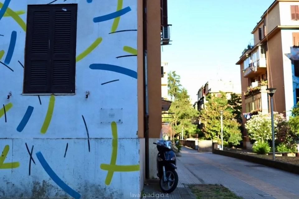 murales di Tor marancia il vento