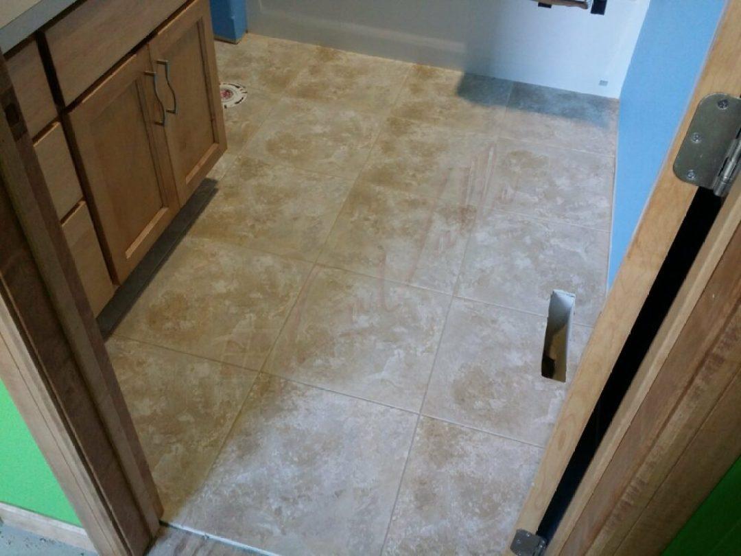 Bathroom in West Fargo with  new Duraceramic Flooring