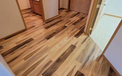 Valley City North Dakota mute step Huntington Hickory Flooring Install