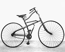 An 1885 Whippet safety bicycle. Science Museum Via Wikimedia Commons.