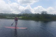 Paddleboarding with a view