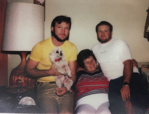 Grandma with my Dad and Uncle Larry