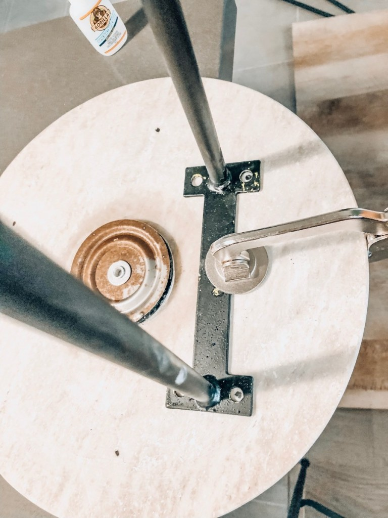 DIY Marble Side Table progress