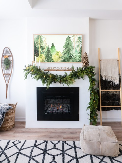 holiday fireplace mantle