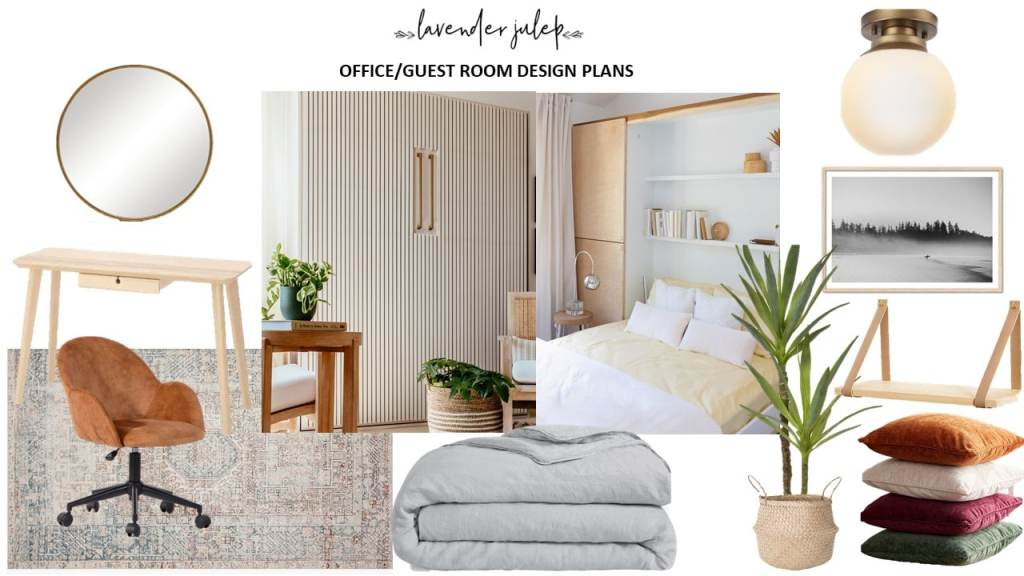 Office Moodboard with Murphy Bed