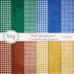 """Fall Gingham"" – Paper Pack"