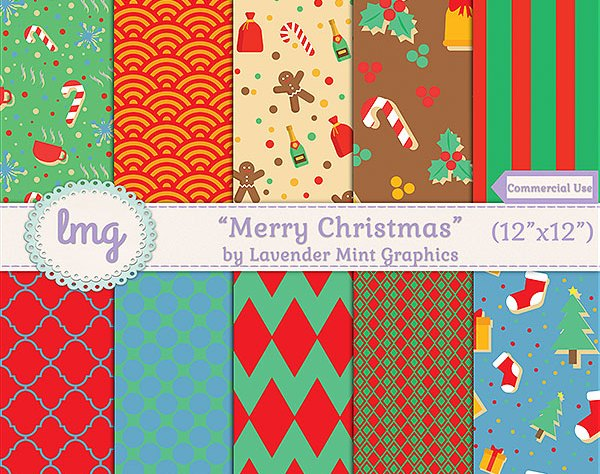 Christmas Digital scrapbook paper
