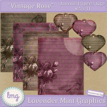 Digital scrapbook journal papers and elements