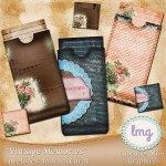 """Vintage Memories"" Envelopes, Journal Cards"