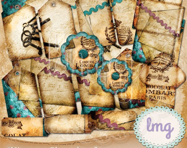 Junk Journal Digital Hybrid Kit