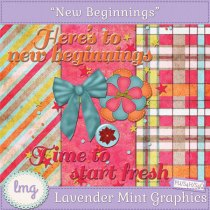 Lavender Mint Graphics New Beginnings Mini-kit