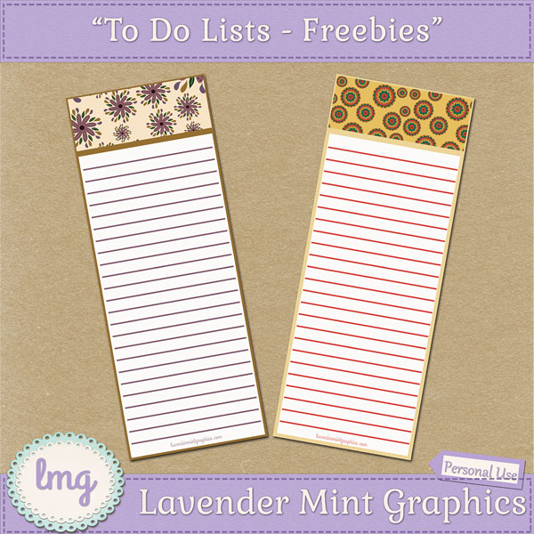 "Free Printable ""To Do"" Lists"