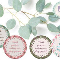 Lavender Mint Graphics Vintage Round Printable Tags