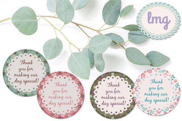 Lavender Mint Graphics Vintage Round Printable Tags