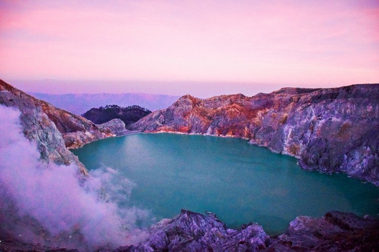 Kawah Ijen Crater, Blue Flamed, Java, Indonesia