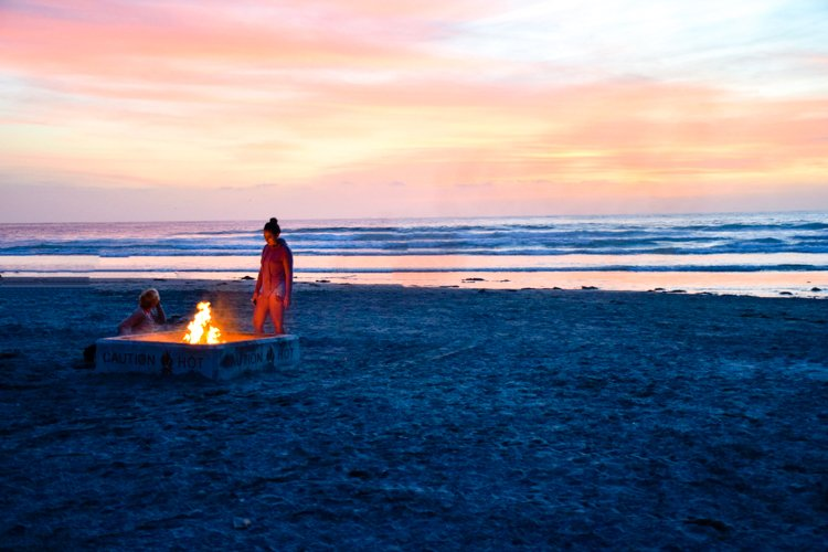 La Jolla Shores fire pits - Best Beaches in San Diego
