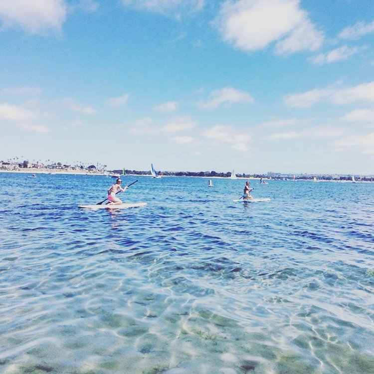 San Diego's Best Outdoor Adventures - Paddle boarding