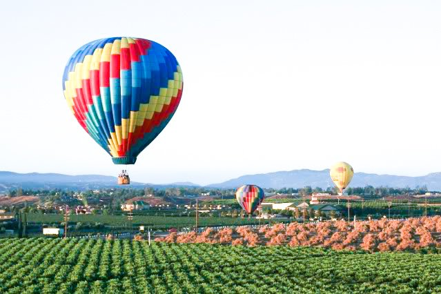 San Diego's Best Outdoor Adventures - Temecula Hot Air Balloon Ride