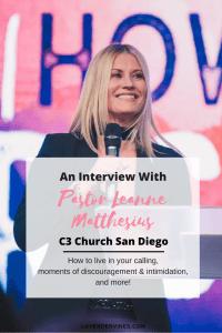 Pastor Leanne Matthesius, Pastor Jurgen Matthesius, C3 San Diego