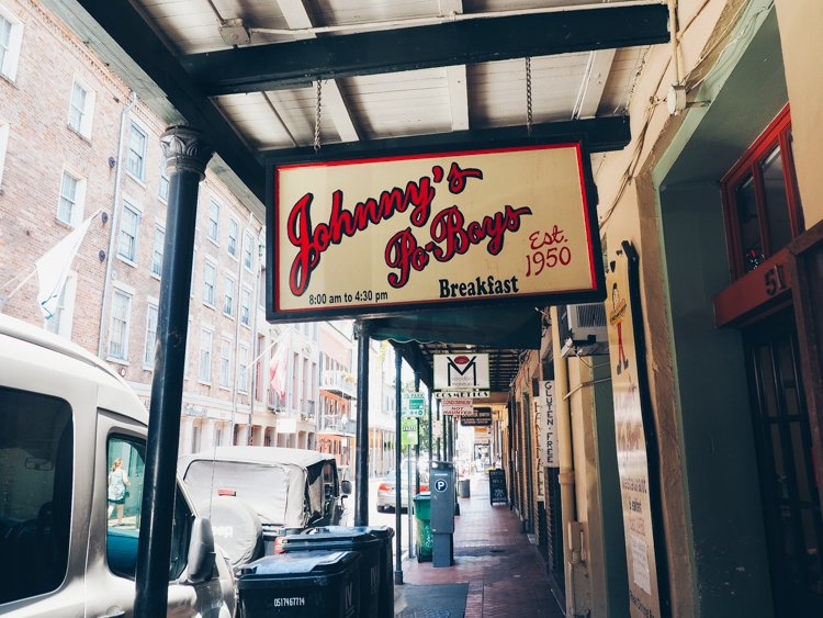 Johnny's Po-Boys - The French Quarter - Visiting New Orleans