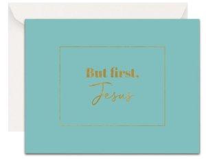 Christian Encouragement Cards - Lavender Vines - But, First Jesus (Robin)