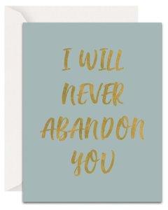 Christian Encouragement Cards - Lavender Vines - Never Abandon