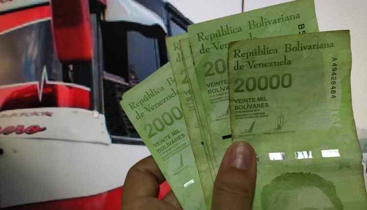 Billete más alto en su nominación en Venezuela sólo alcanza para dos pasajes en el transporte público