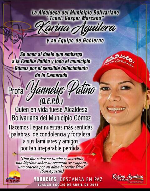 laverdaddemonagas.com fallecio alcaldesa yannelys patino por covid 19 en nueva esparta