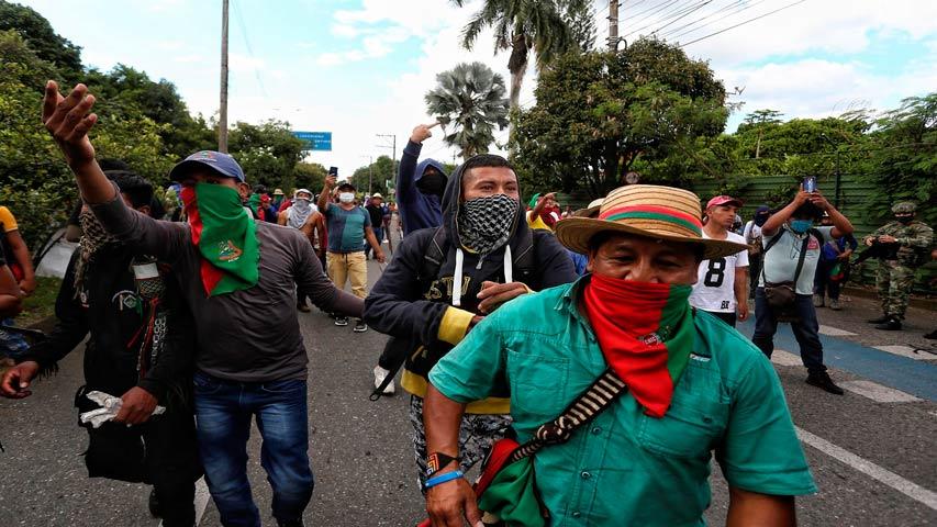 levantan bloqueo y abren corredor humanitario en cali 1