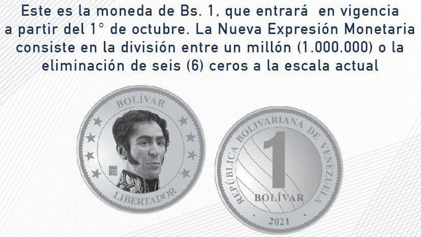 nuevo cono monetario moneda