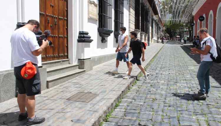 Grabaciones en las calles de Caracas.