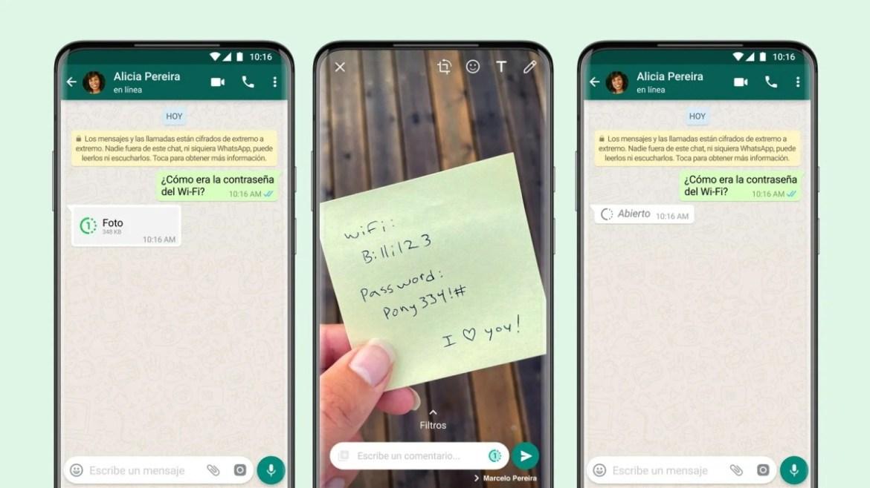 WhatsApp actualizó sus funciones: Ahora se enviaran fotos y videos que se autodestruyen