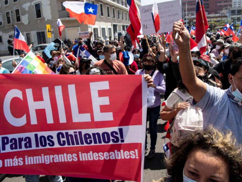 factores politicos venezolanos rechazan la xenofobia contra migrantes en chile laverdaddemonagas.com chilenos manifestaron
