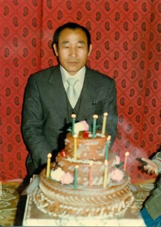 Ahnsahnghong en su cumpleaños