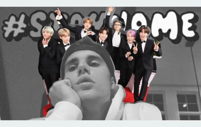 BTS does go crazy Justin Bieber and the ARMY calls for collaboration