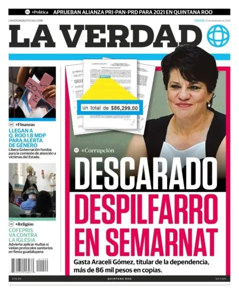 Araceli Gómez, head of Semarnat Quintana Roo, generates controversy due to his assigned contracts, expenses in the middle of the pandemic and omissions in complaints