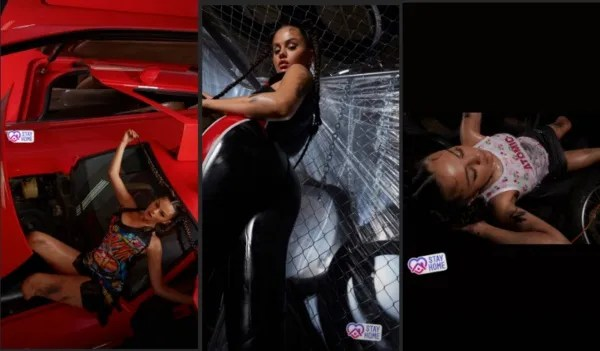 """Selena Gomez shared a hot photo in the style of """"Shut Up And Drive"""" by Rihanna"""