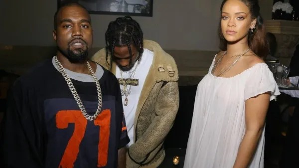 Kanye West, Rihanna and Travis Scott have a great friendship