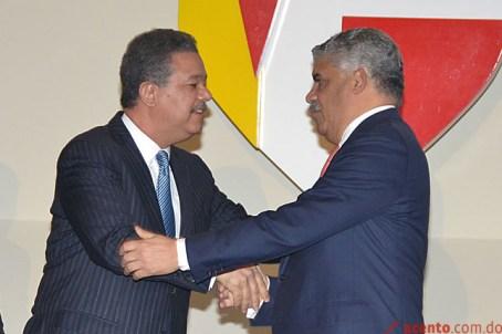 Leonel Fernandez y Miguel Vargas Maldonado, firman acuerdo Intit