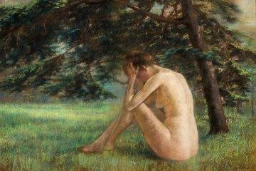 desnudo en el parque *