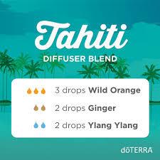 Tahiti diffuser blends ylang ylang