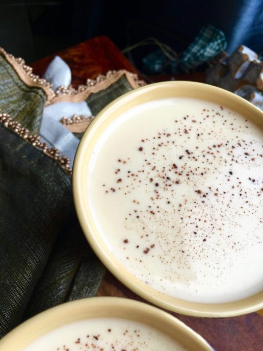 holiday drinks, eggnog
