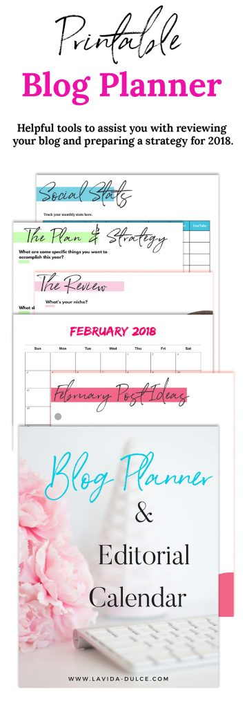 Blog Planner and Editorial Calendar pages