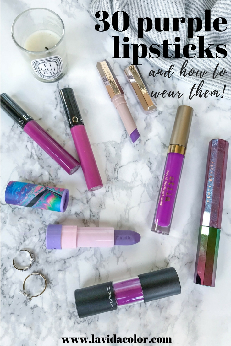Purple lipstick and how to wear it