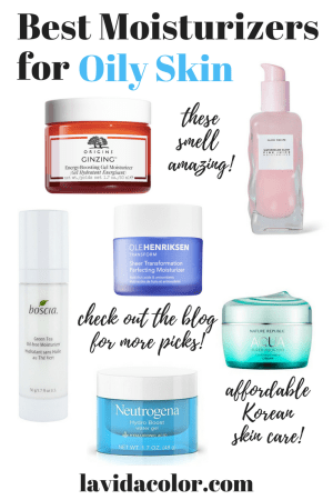best moisturizers for oily skin and acne prone skin in the summer