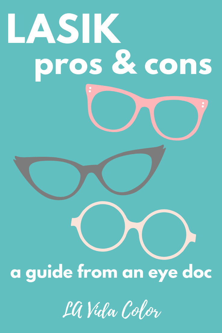 Interested in getting LASIK but not sure what the pros and cons are? Check out my guide that will help you decide if LASIK eye surgery is right for you! #lasik #eyesurgery #eyehealth #optometry #glasses