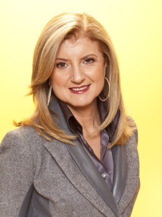 Arianna Huffington OWNS her suits. A silk finished blouse with a wool blazer gives a fine, classy finish.