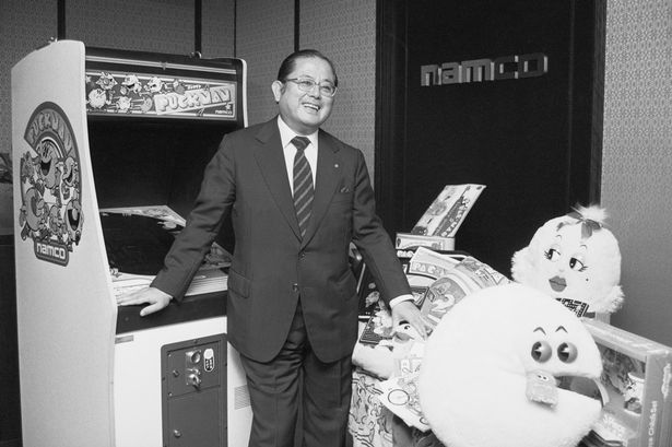 video-game-designer-masaya-nakamura-posing-with-his-creations