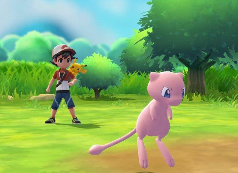 Mew-pokemon-lets-go-pikachu-poke-ball-plus-la vida es un videojuego
